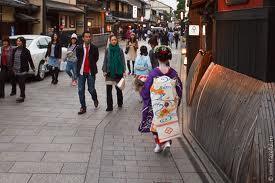 Квартал Гион в японском городе Киото